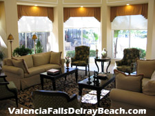 Imagine greeting your friends in this elegant setting in the Valencia Falls clubhouse before heading off to an event in the ballroom.