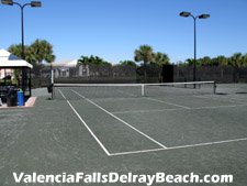Valencia Falls boasts a total of six lighted Har-Tru tennis courts available for residents enjoyment.